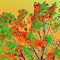 Autumn Watercolor Painting by Will Borden