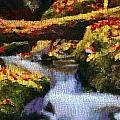 Autumn Waterfall Canvas by Dan Sproul