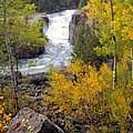 Autumn Waterfall by Leland D Howard