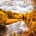Autumn White Mountains Maine by Bob Orsillo