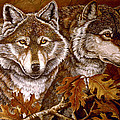 Autumn Wolves by Sandy Williams