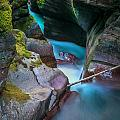 Avalanche Gorge Glacier National Park Painted   by Rich Franco