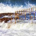 Avalon Rockpool With Crashing Waves by Sheila Smart Fine Art Photography