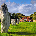 Avebury Village Amidst An Ancient Stone Circle by Mark Tisdale