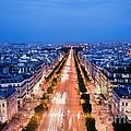 Avenue Des Champs Elysees In Paris by Michal Bednarek