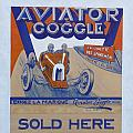 Aviator Goggle Sold Here Poster by Anna Ruzsan