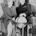 Aviator Jacqueline Cochran With Capt by Everett
