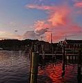 Avon Harbor And Church 1 8/27 by Mark Lemmon