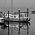 Avon Harbor Calm Reflection Bxw 1/13 by Mark Lemmon