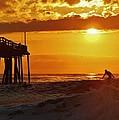 Avon Pier Sunrise Surfer 2 9/08 by Mark Lemmon