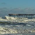 Avon Pier Ocean Pounding 3 2/08 by Mark Lemmon