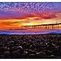 Avon Pier Shells Sunrise by Mark Lemmon