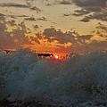 Avon Pier Splash Sunrise 7/26 by Mark Lemmon