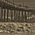 Avon Pier Stormy Sepia 3 10/13 by Mark Lemmon