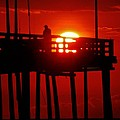 Avon Pier Sunrise 2 7/26 by Mark Lemmon
