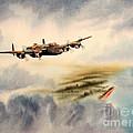 Avro Lancaster Over England by Bill Holkham