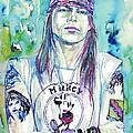Axl Rose Portrait.1 by Fabrizio Cassetta
