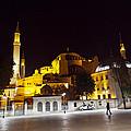 Aya Sophia In Istanbul Turkey At Night by Raimond Klavins