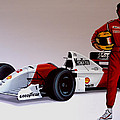 Ayrton Senna by Paul Meijering