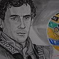 Ayrton Senna Portrait by Juan Mendez