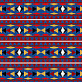 Aztec Blue Pattern by Christina Rollo