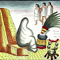 Aztec Burial Ritual by Library Of Congress