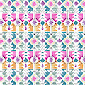 Aztec Inspired Arrow And Geometric Pattern One.jpg by MGL Meiklejohn Graphics Licensing