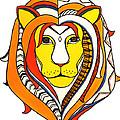 Golden Aztec Lion by Allison Liffman