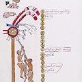 Aztec Month Hueymiccaihuitl by Library Of Congress