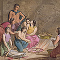 Aztec Women Making Maize Bread, Mexico by Gallo Gallina