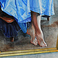 Through The Looking Glass- A Vision In Azure, Prelude To A Dance by Carolyn Coffey Wallace
