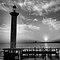 B And W Biloxi Sunset I Mlo by Mark Olshefski