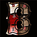 B For Bosox - Vintage Boston Poster by Joann Vitali