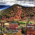 B Hill Over Historic Bisbee by Charlene Mitchell