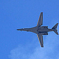 B1-b Lancer In The Skys Over Las Vegas by Carl Deaville