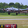 B17 Bomber Taking Off by Thomas Woolworth