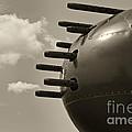 B25 Mitchell Bomber Airplane Nose Guns by M K Miller