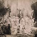 The Three Crosses, Circa 1660 by Rembrandt Harmensz van Rijn