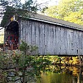 Babbs Covered Bridge In Maine by Catherine Gagne