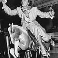 Babe Didrikson On Sidesaddle by Underwood Archives