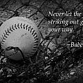 Babe Ruth Baseball by Kelly Hazel