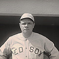 Babe Ruth With The Sox by Mountain Dreams