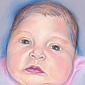 Baby With Wide Eyes And Chubby Cheeks by MM Anderson