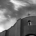 Back Entrance Arch San Xavier Del Bac Mission 1979 by David Lee Guss