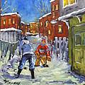 Back Lane Hockey Shoot Out By Prankearts by Richard T Pranke