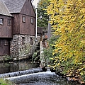 Back Of The Plimoth Grist Mill  by Janice Drew