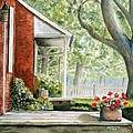 Back Porch Geraniums by John W Walker
