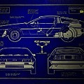 Back To The Future Delorean Blueprint 2 by Tommy Anderson