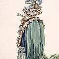 Back View Of Ladys Dress, Engraved by Francois Louis Joseph Watteau