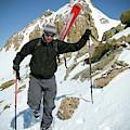 Backcountry Skiing, Citadel Peak, Co by Randall Levensaler